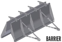 Barrier concrete form