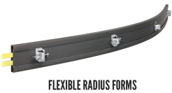 Flexible radius forms
