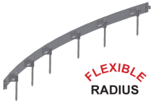 Flexible Radius steel form