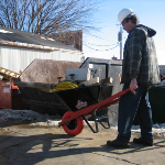 Wheelbarrow for demolition work