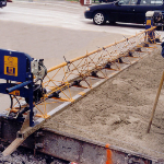 Concrete Screed for concrete finishing for highways