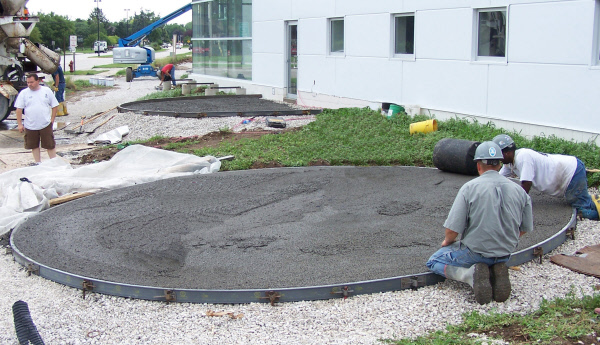 Poly Meta Forms used to pour concrete circle pads