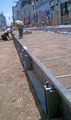 Steel Flatwork Concrete Forms used in Street Construction