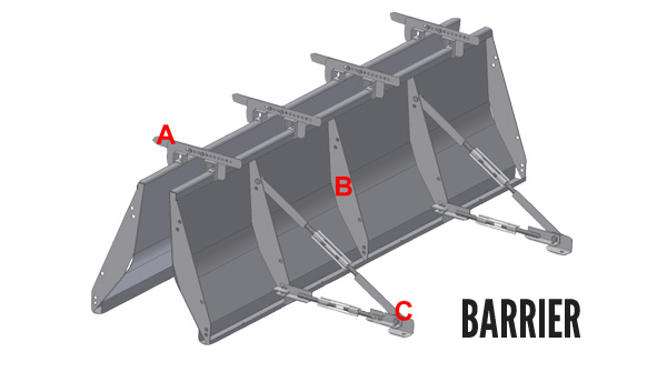 New Jersey Style Metal Barrier Form Setup
