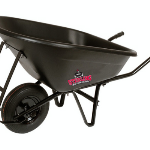 Steel tray wheelbarrow with steel handles