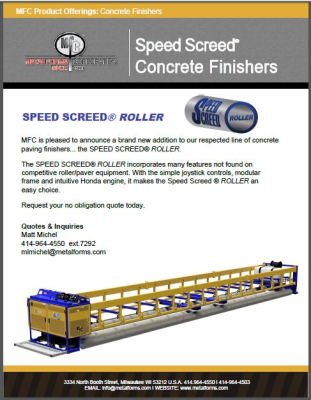 SPEED SCREED® ROLLER PRODUCT OFFERINGS