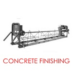 Concrete Finishing Screeds