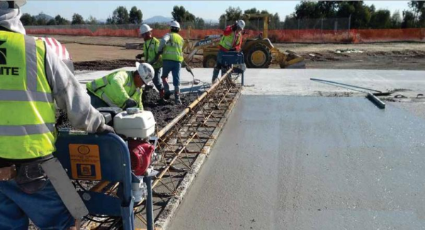 High temperature concrete slabs are ideal for taxiways.