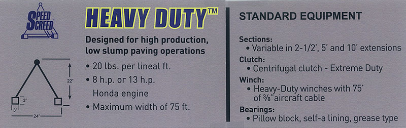 Heavy Duty Specs