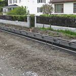 Plastic curb and gutter forms