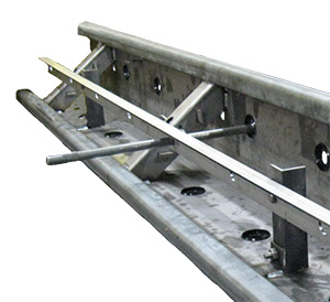 Dowel bar support system for paving forms