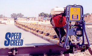 Speed Screed concrete finisher for roadwork