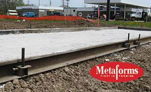 MetaForms Flatwork for road construction