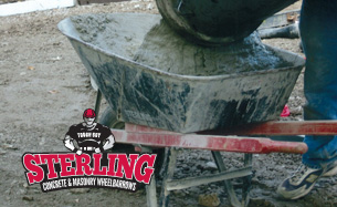 Sterling concrete and masonry wheelbarrows