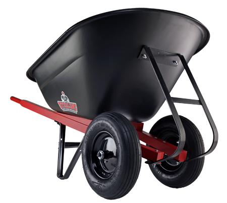Plastic tray heavy duty wheelbarrow